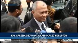KPK Apresiasi Langkah KPU Coret 5 Bacaleg Eks Koruptor