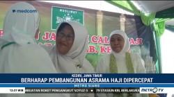 Khofifah Lepas Keberangkatan Jemaah Calon Haji di Kediri