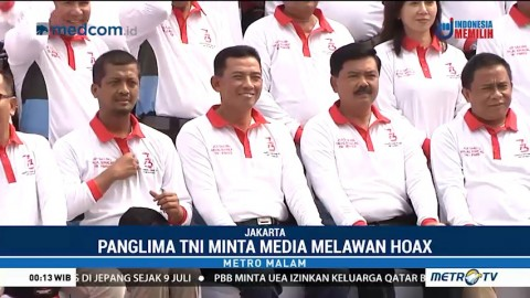 Panglima TNI Minta Media Lawan Hoaks
