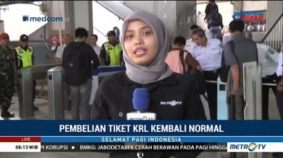 Sistem E-Ticketing Kembali Normal, Tak Terlihat Antrean di Stasiun Depok