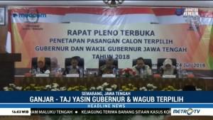 KPU Jateng Tetapkan Ganjar-Taj Yasin sebagai Gubernur dan Wagub Terpilih