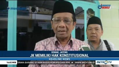 Mahfud MD: Uji Materi JK ke MK adalah Hak Konstitusional