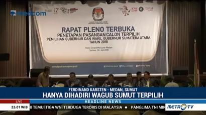 KPU Sumut Tetapkan Edy-Ijek Gubernur dan Wagub Terpilih Sumut 2018