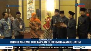 KPU Jatim, Jateng & Sumut Tetapkan Gubernur-Wagub Tepilih