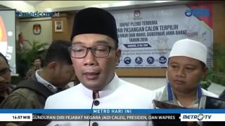 KPU Tetapkan Ridwan Kamil-Uu Ruzhanul Pemenang Pilgub Jabar