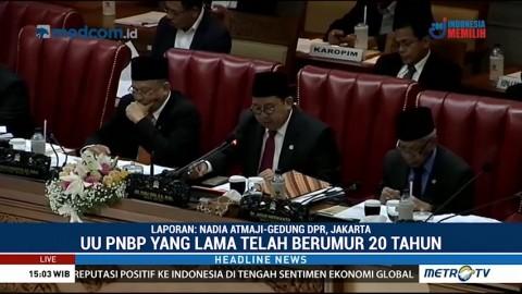 DPR Sahkan Revisi UU PNBP