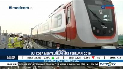 MRT Jakarta Uji Coba Perdana 9 Agustus