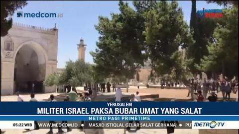 Militer Israel Bubarkan Paksa Salat Jumat di Masjid Al-Aqsa