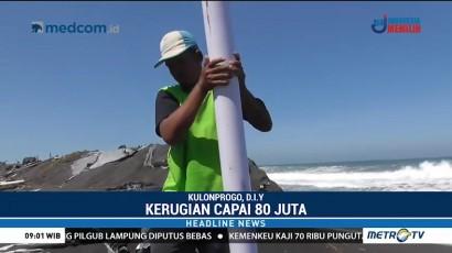 Tambak Udang di Pantai Bugel Rusak Dihempas Gelombang Tinggi
