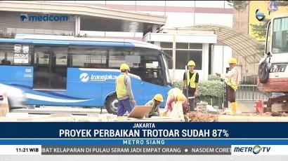 Pengerjaan Trotoar Sudirman-Thamrin Sudah 87 Persen