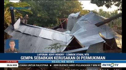 Gempa Akibatkan Kerusakan Bangunan di Lombok