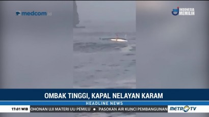 Ombak Besar, Kapal Nelayan di Jember Karam