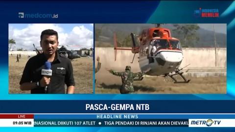 Evakuasi Pendaki Gunung Rinjani Gunakan Helikopter