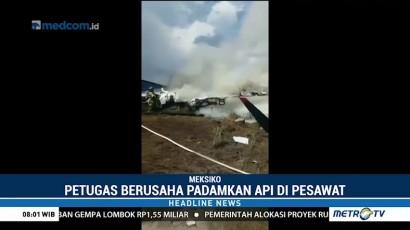 Pesawat Jet Jatuh Setelah Lepas Landas di Meksiko