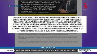 Malaysia Laporkan Umpatan Kasar Suporter Indonesia