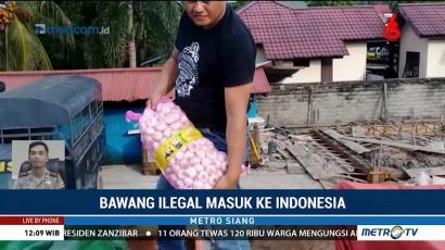 Polisi Usut Penyelendupan 19 Ton Bawang Asal Malaysia