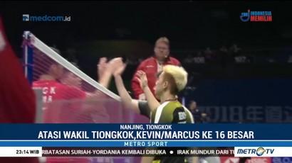 Kevin/Marcus Lolos ke 16 Besar Kejuaraan Dunia 2018