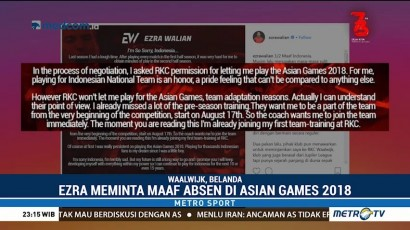 Ezra Walian Absen di Asian Games 2018