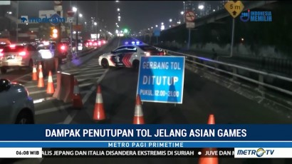 Penutupan Tol Dalam Kota Jakarta Sebabkan Kemacetan Panjang