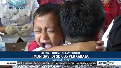 Ratusan Siswa di Polewali Mandar Disuntik Vaksin Campak dan Rubella