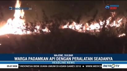 Kebakaran Lahan Dekat Permukiman Buat Panik Warga Majene