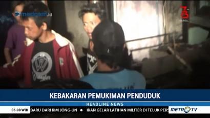 Panik, Korban Kebakaran di Makassar Bertengkar dengan Petugas