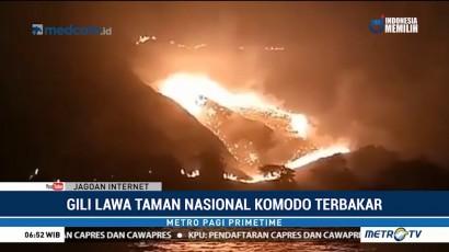 10 Hektare Lahan di Gili Lawa Terbakar