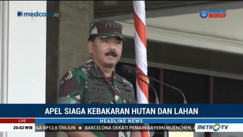 Panglima TNI Pimpin Apel Siaga Karhutla di Sumsel