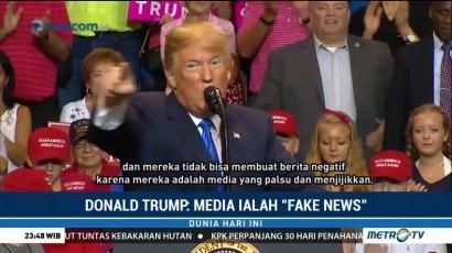 Donald Trump Tuding Media sebagai 'Fake News'