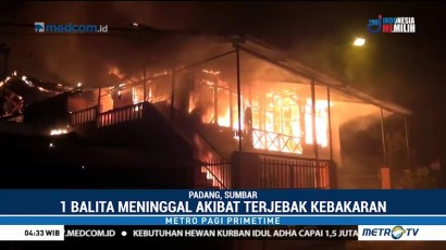 Kebakaran Kawasan Padat Penduduk di Padang Tewaskan Seorang Balita