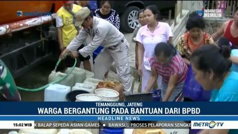Warga Temanggung Bergantung pada Bantuan Air Bersih
