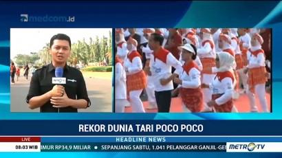 Jokowi-JK Ikuti Pemecahan Rekor Dunia Senam Poco-poco