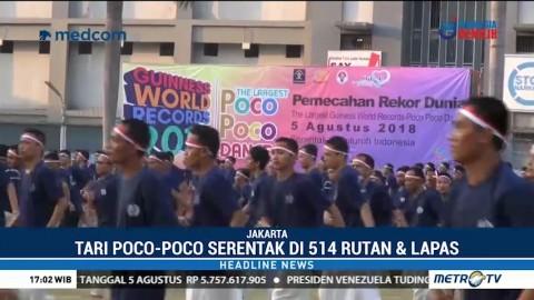 120 Ribu Warga Binaan Ikut Pecahkan Rekor Poco-Poco
