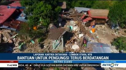 Bantuan untuk Korban Gempa Lombok Terus Berdatangan