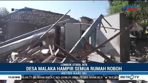 Desa Malaka Hampir Rata dengan Tanah Akibat Gempa Lombok