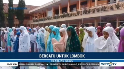 Siswa di Tasikmalaya dan Temanggung Gelar Salat Gaib untuk Korban Gempa Lombok