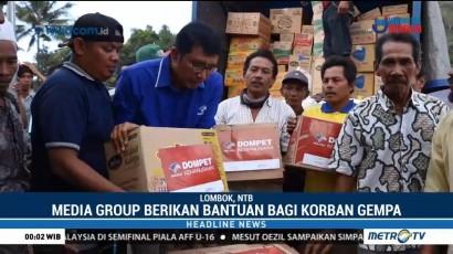 Media Group Berikan Bantuan untuk Korban Gempa Lombok