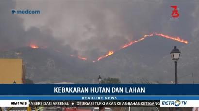 Ratusan Hektare Hutan Nasional di AS Hangus Terbakar