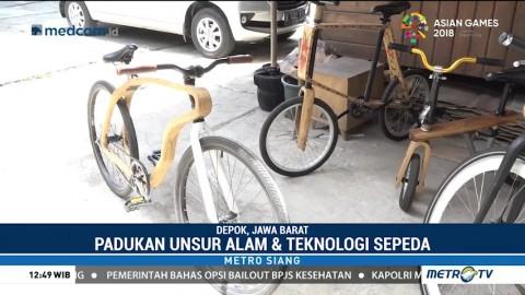 Sepeda Kayu Listrik Karya Anak Bangsa