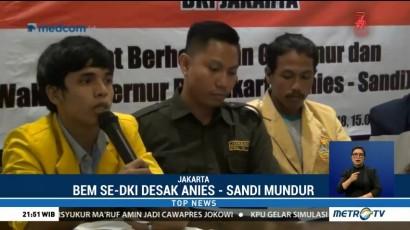 BEM se-DKI Jakarta Desak Anies-Sandi Mundur