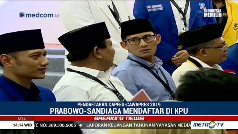 Prabowo-Sandiaga Resmi Daftar Capres-Cawapres