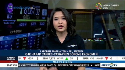 Penetapan Capres-Cawapres Direspon Positif Pelaku Pasar