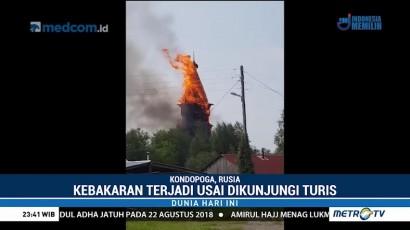 Gereja Berusia 244 Tahun di Rusia Terbakar