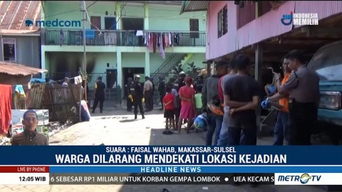 Polisi Sterilisasi Lokasi Ledakan Indekos di Makassar