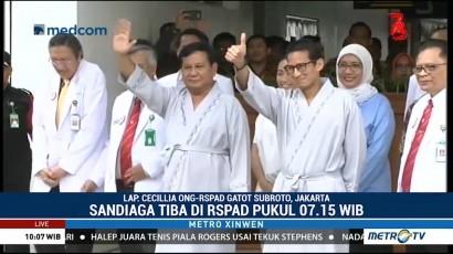 Prabowo-Sandi akan Jalani 17 Tahapan Tes Kesehatan