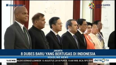 Jokowi Terima Delapan Dubes Negara Sahabat
