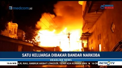 Satu Keluarga di Makassar Dibakar Bandar Narkoba