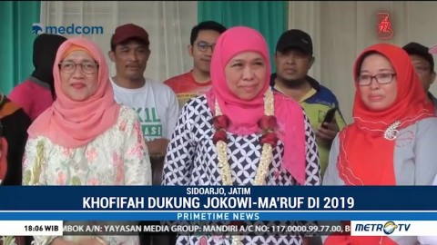 Khofifah Dukung Jokowi-Ma'ruf di Pilpres 2019