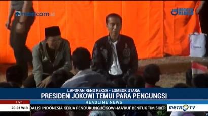 Presiden Jokowi Berdialog dengan Korban Gempa Lombok