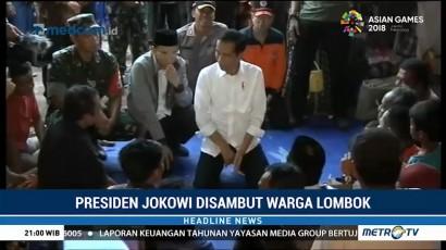 Pengungsi Gempa Lombok Antusias Sambut Jokowi